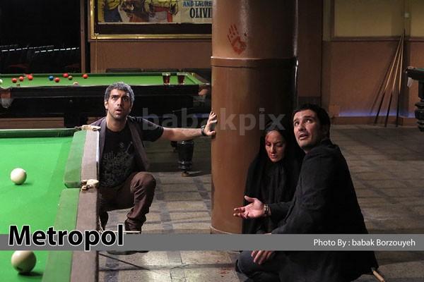 محمدرضا فروتن، مهناز افشار و پولاد کیمیایی در نمایی از فیلم